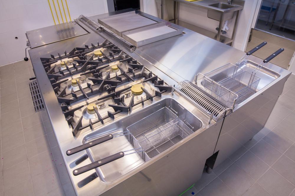 Zona cocción cocina profesional